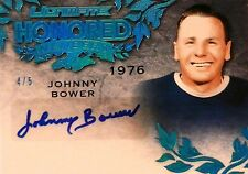 15-16 leaf ultimate honored members johnny bower maple leafs autograph auto 4/5
