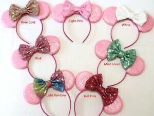 Pink Minnie Ears, Pink Mickey Mouse Ears, Pink Disney Ears HANDMADE