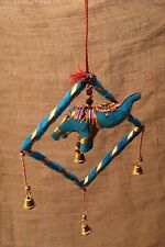 Hanging Lucky Elephant Mobile From Exotic Jaipur India Ligth Blue