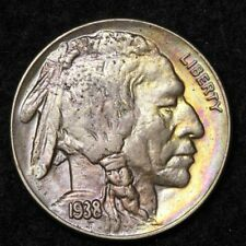 1938-D Buffalo Nickel CHOICE BU TONED FREE SHIPPING E394 T