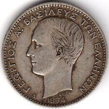 1874 A Greece George I Silver Drachma***Collectors***