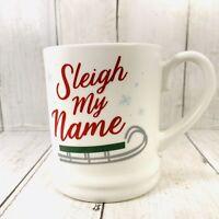 16oz Stoneware Sleigh My Name Mug Winter Christmas Coffee Cup