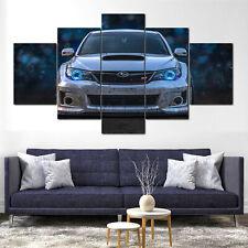 Subaru Impreza WRX STI Sports Car Canvas Framed 5 Pcs Wall Art Poster Decor