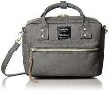 Anello AT-C1223 Shoulder Mini Boston Bag Gray Polyester From Japan F/S NEW