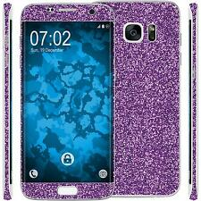 1 x glitter foil set for Samsung Galaxy S7 Edge purple protection film