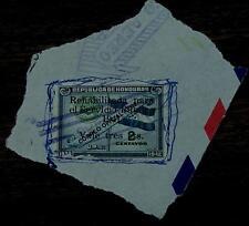 Vintage Used Honduras Rehabilitada Para El Servicio Publico 2 Centavos Stamp, GD