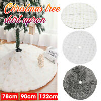 122cm Round Christmas Tree Skirt Base Floor Mat Cover Home Party Decor Xmas Gift