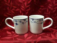 "2 Johnson Brothers Blue Denmark 3.5"" Mugs / Cups EUC"