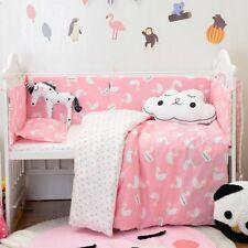 Baby Nursery Bedding Set Cotton Cute Duvet Cover Pillowcase Flat sheet 3Pcs