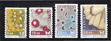 SWEDEN 2007-2008 BUTTERFLIES WINGS HIGH VALUE COMP. SET OF 4 STAMPS IN FINE USED