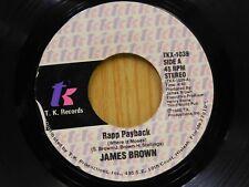 James Brown 45 Rapp Payback pt I bw pt II on TK