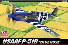 Academy 1/48 ACCURATE MINIATURES USAAF P-51B Blue Nose Cartograf Decal #12303