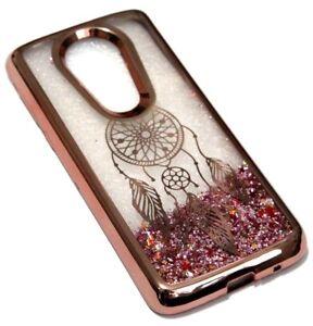 For Motorola Moto E5 PLUS / E5 SUPRA Rose Gold Dream Catcher Glitter Liquid Case