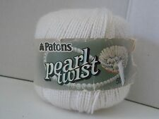 Patons ~ Pearl Twist ~ White ~ 50 grams