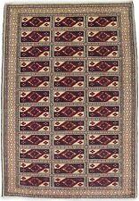 Rare Tribal Design Small Size 3X4 Handmade Wool Oriental Rug Home Decor Carpet
