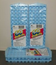 4 - BLUE Arrow Mini Ice Cube Trays, 60 Cubes Per Tray use w/ blender bottles NEW