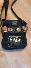 Vintage Diesel Black Canvas Leather Bag Crossbody Shoulder Purse Adjust Strap
