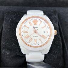 Versace White Rose gold  Ceramic Ladies Swiss Automatic Watch