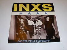 "INXS - Need You Tonight - 1987 UK injection 7"" Vinyl Single"