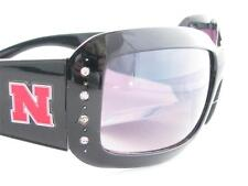 Nebraska Cornhuskers Black Womens Sunglasses NU Officially Licensed Style4JT