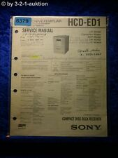 Sony Service Manual HCD ED1 Component System (#6379)