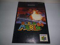 Notice JEU Nintendo 64, SUPER MARIO 64, Complète, N64, Mode d'emploi en Allemand