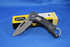 Buck Redpoint Onehand safespin Black Grip 750BKX