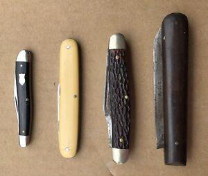 Vintage Lot Pocket Knives Schrade E. Faber Kutmaster