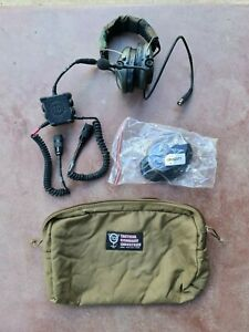TCI Liberator III Secure Dual-Communications Tactical Headset with Gel Inserts
