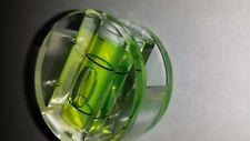 LEVEL VIAL - Round Disc - 1 BUBBLE - CLEAR HARD PLASTIC - GREEN LIQUID