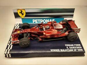 Ferrari f2008 K. Raikkonen winner malaysian gp 2008 1:43 F1 no minichamps