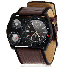 OULM Mens Luxury Sports Compass Thermometer Military Army Quartz Wrist Watch New
