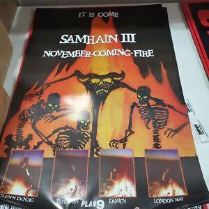 IMPERFECT READ DESCRIPTION Samhain November Coming Fire 24x36 Fan Poster Danzig