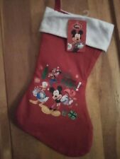 Disney Mickey Mouse Donald Duck Goofy Christmas Stocking New with Tag
