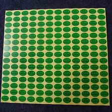 QC PASSED Stickers Green Color Oval Coated Paper Warranty Label Stickers 900pcs
