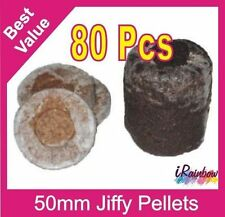 Jiffy-7 Coir Pellets Round 50mm x 80pcs - Great for Propagation & Seedling