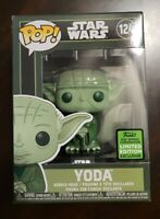 🔥Funko POP! Star Wars Green Yoda Military#124💥2021 ECCC Spring Exclusive!NEW
