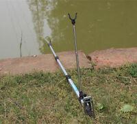 1.5m~2.1m Fishing Rod Rest Bracket Rack Pole Stand Holder Adjustable Aluminium