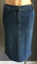 Retro KATIES Blue Denim Stretch Straight Skirt Size 8