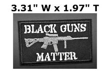 BLACK GUNS MATTER USA ARMY TACTICAL MILITARY MORALE BADGE SWAT IRON SEW-ON PATCH
