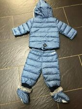 Ted baker boys Blue 2 Piece Hooded Snowsuit 9-12 months New £55