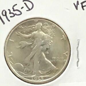 1935-D Walking Liberty Silver Half Dollar   E9011