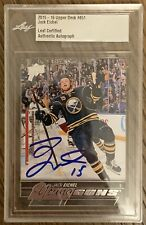 2015 2016 UPPER DECK Jack Eichel x1 AUTO LEAF YOUNG GUNS RC ROOKIE BUYBACKS BGS
