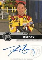 Dave Blaney PRESS PASS SIGNINGS 2006 NEXTEL CUP autographed card *FREE SHIPPING*
