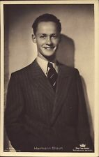 Hermann Braun - Tobis Foto Autogramm AK Starpostkarte  ( K-2343
