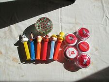 Group of Collectables 6 pez 5 Coca Cola yoyos 1 millefiori glass paperweight