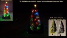 LED Weihnachtset / HO ,Tannenbaum-verschneit ,Lichterkette 4 farbig