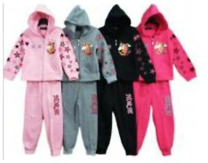 Girls Jogging Suits Tracksuits  Hoddie and Trousers Kids Clothes Age 2-12