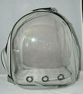 Portable Pet Carrier Bag Breathable Cat Dog Outdoor Travel Transparent Backpack