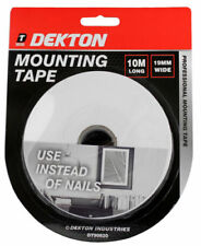 Dekton 10m X 19mm Heavy Duty Mounting Tape Instant Mount